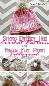 Read more about the article Snow Drifter Hat Pattern & Faux Fur Pom Tutorial