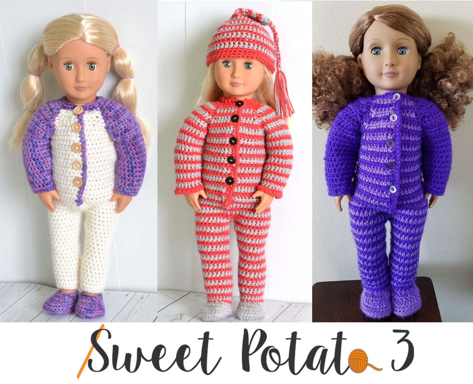 18″ Doll PJ Set – Crochet Pattern Release