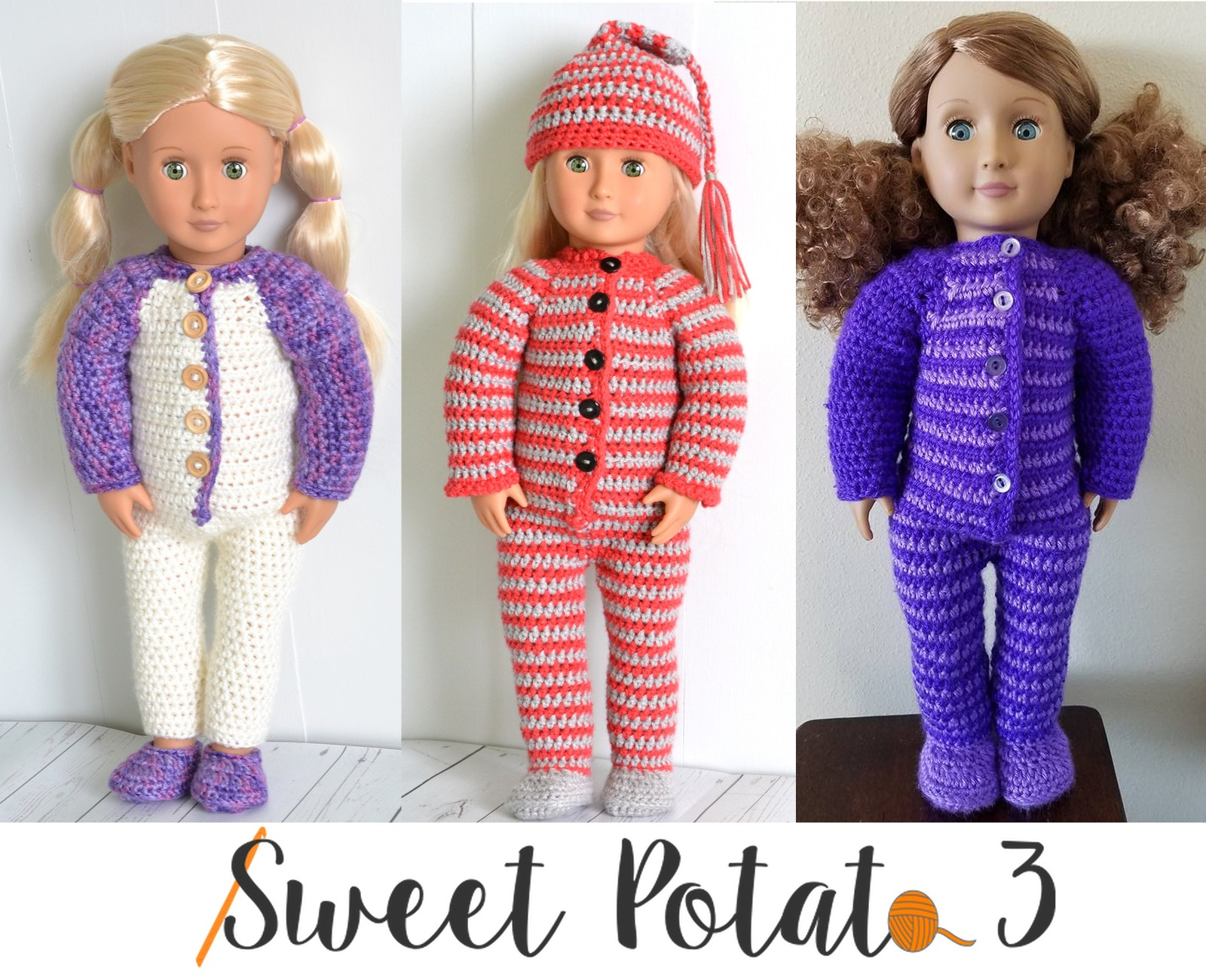You are currently viewing 18″ Doll PJ Set – Crochet Pattern Release