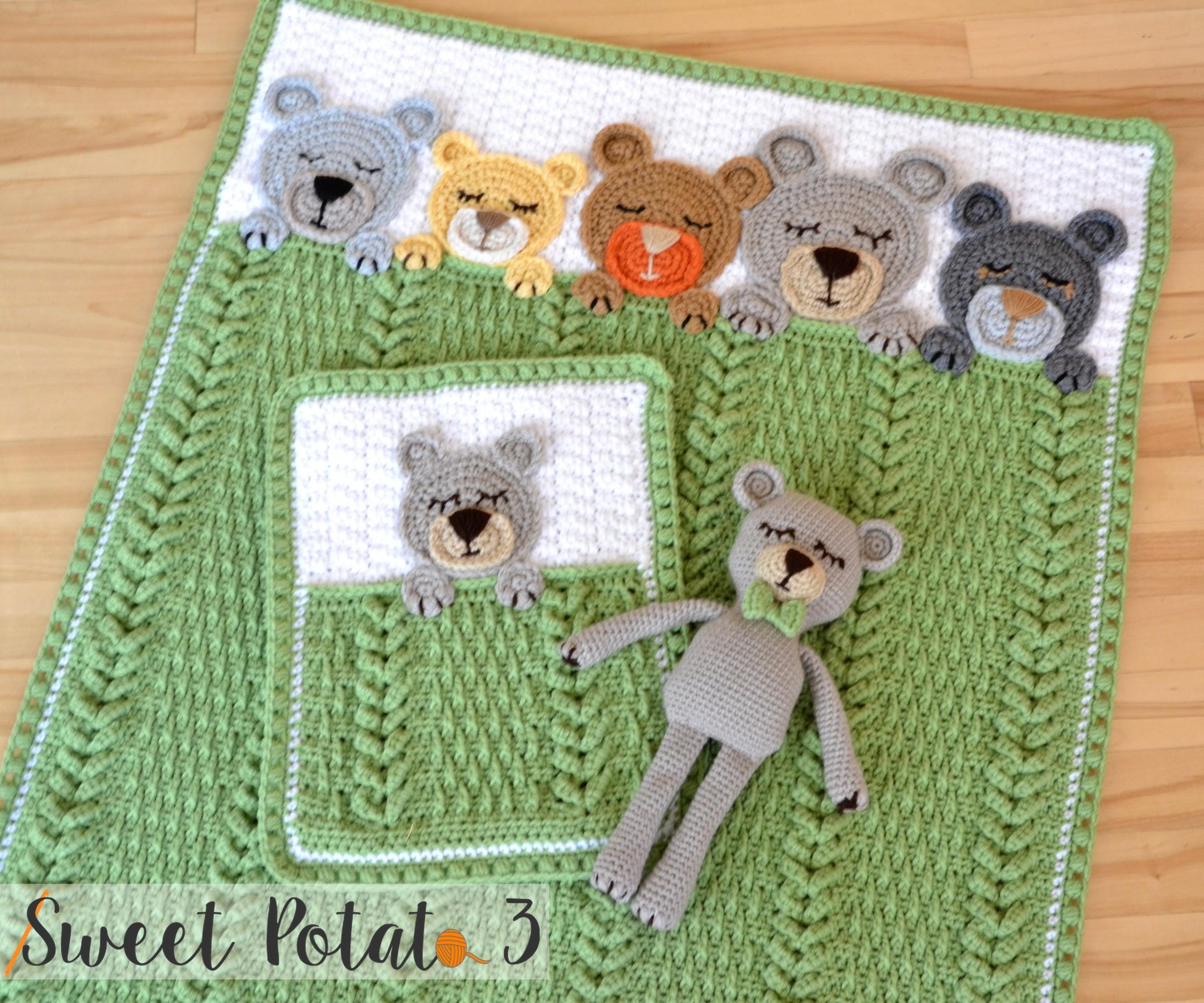 Sleep Tight Teddy Bear Set – Crochet Pattern