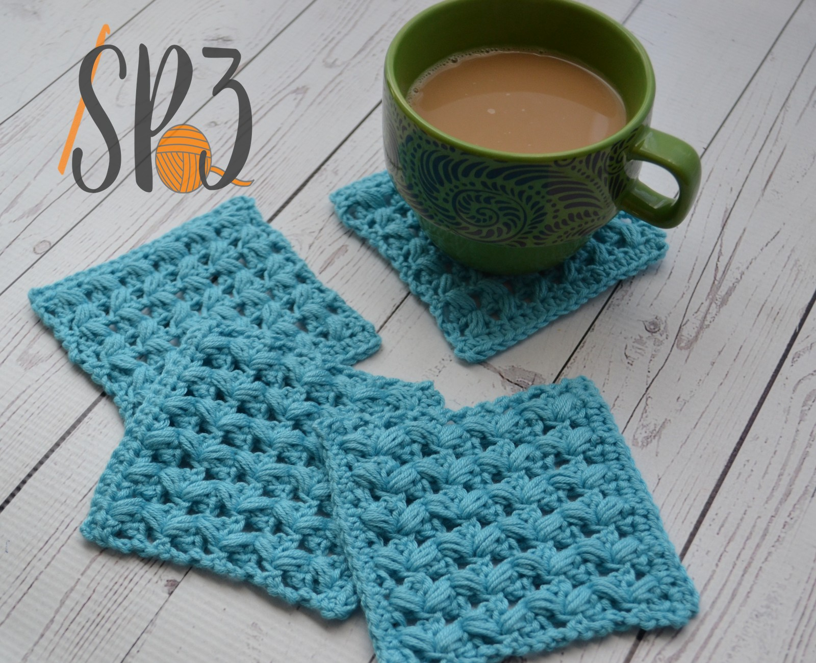 One Cup at a Time Coasters – Free Crochet Pattern