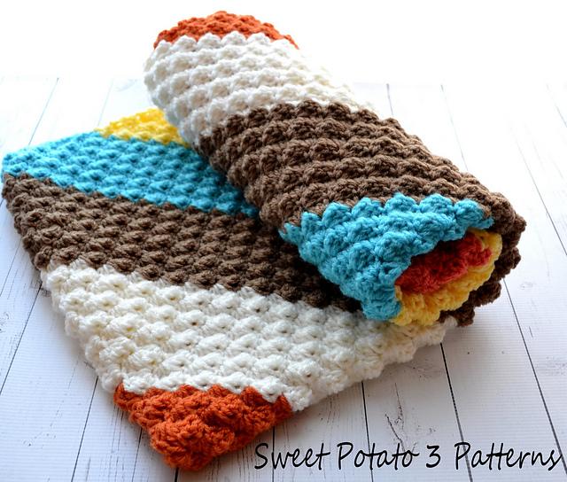 Diagonal Delights Baby Blanket Crochet Pattern