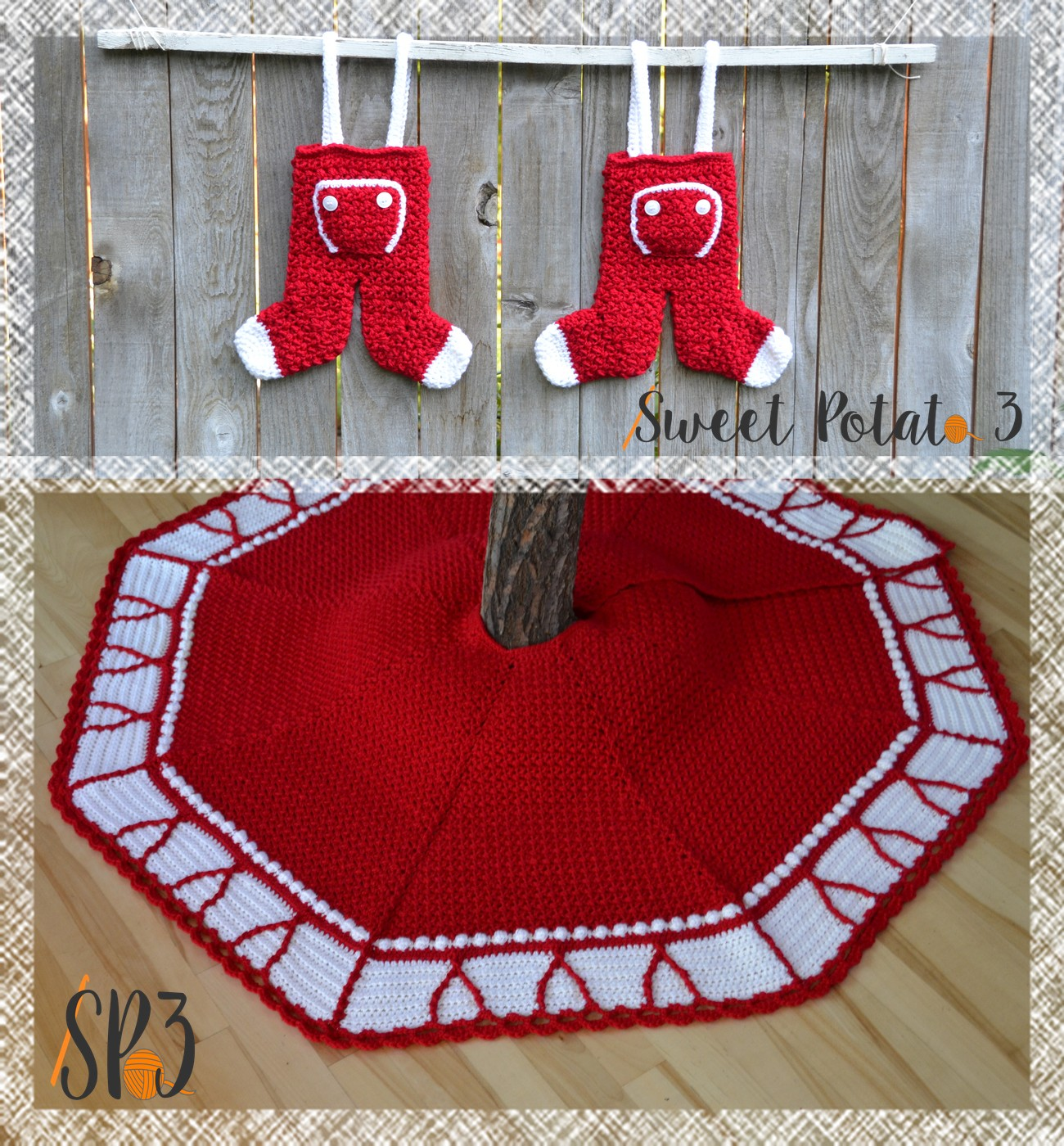 You are currently viewing O'Christmas Tree Skirt & Long John Stocking Pattern Release