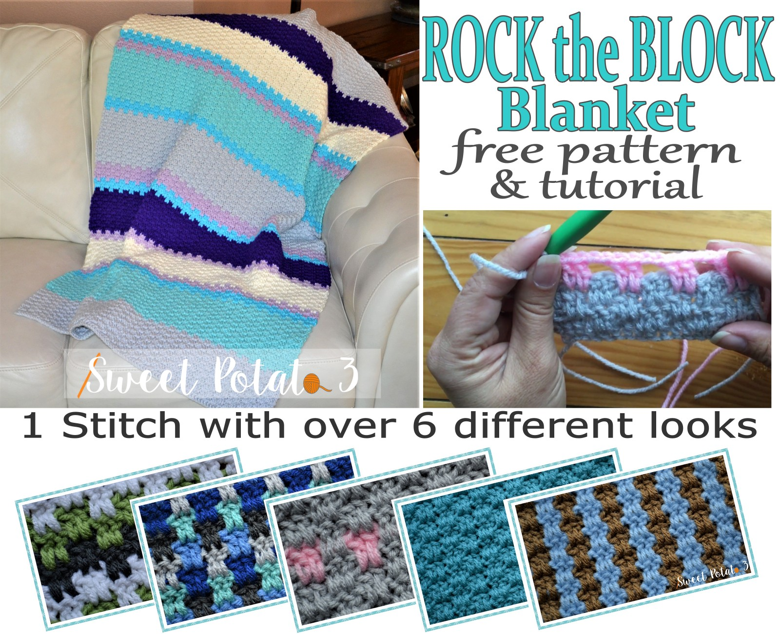 You are currently viewing Free Rock the Block Blanket Pattern & Tutorial