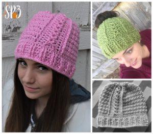 Slalom Slope Beanie Crochet Pattern