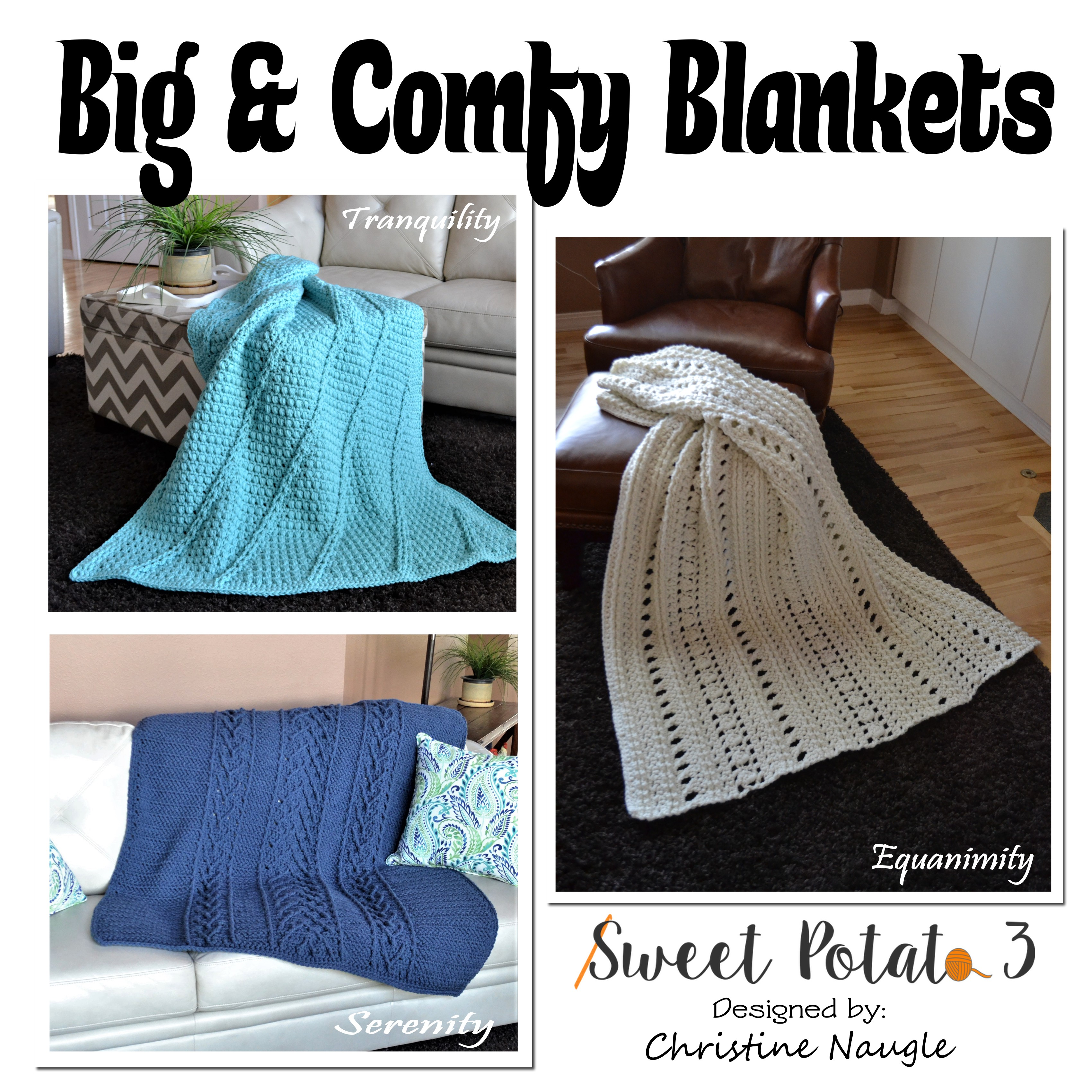 You are currently viewing Big & Comfy Blanket Collection – Crochet Pattern