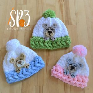 Sleep Tight Teddy Bear Hat Crochet Pattern