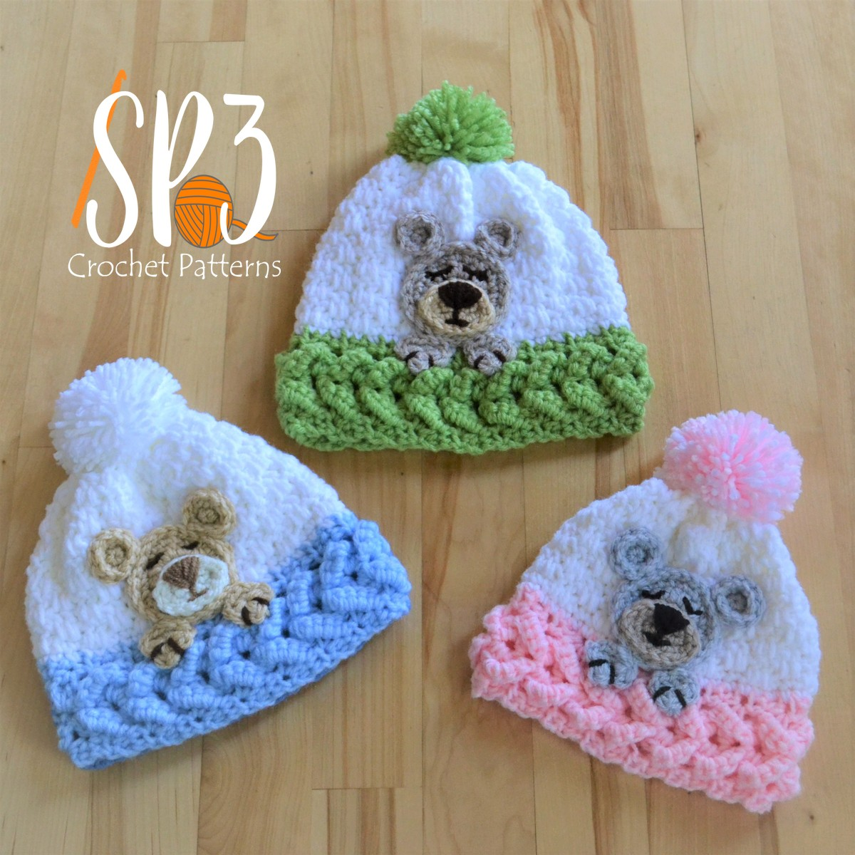 You are currently viewing Sleep Tight Teddy Bear Hat Crochet Pattern