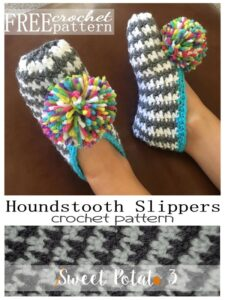 Perfect Slippers – Houndstooth {free pattern}