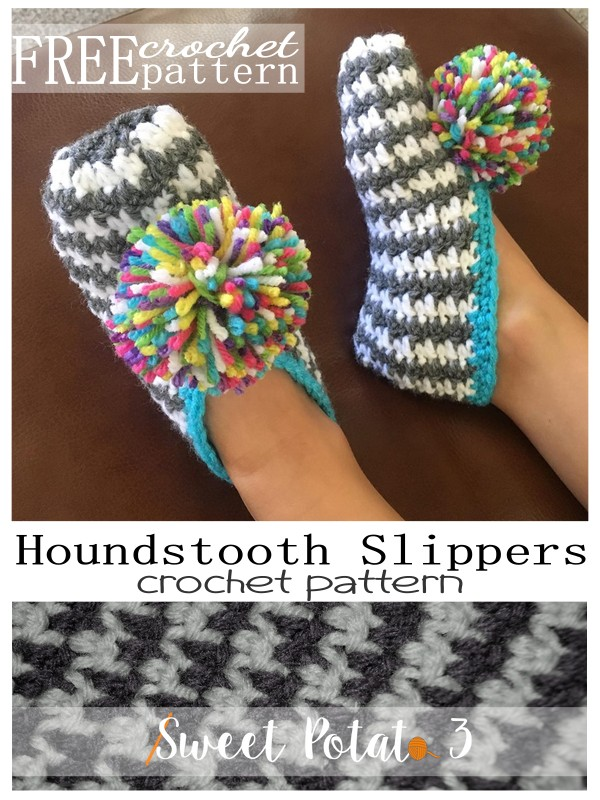 You are currently viewing Perfect Slippers – Houndstooth {free pattern}