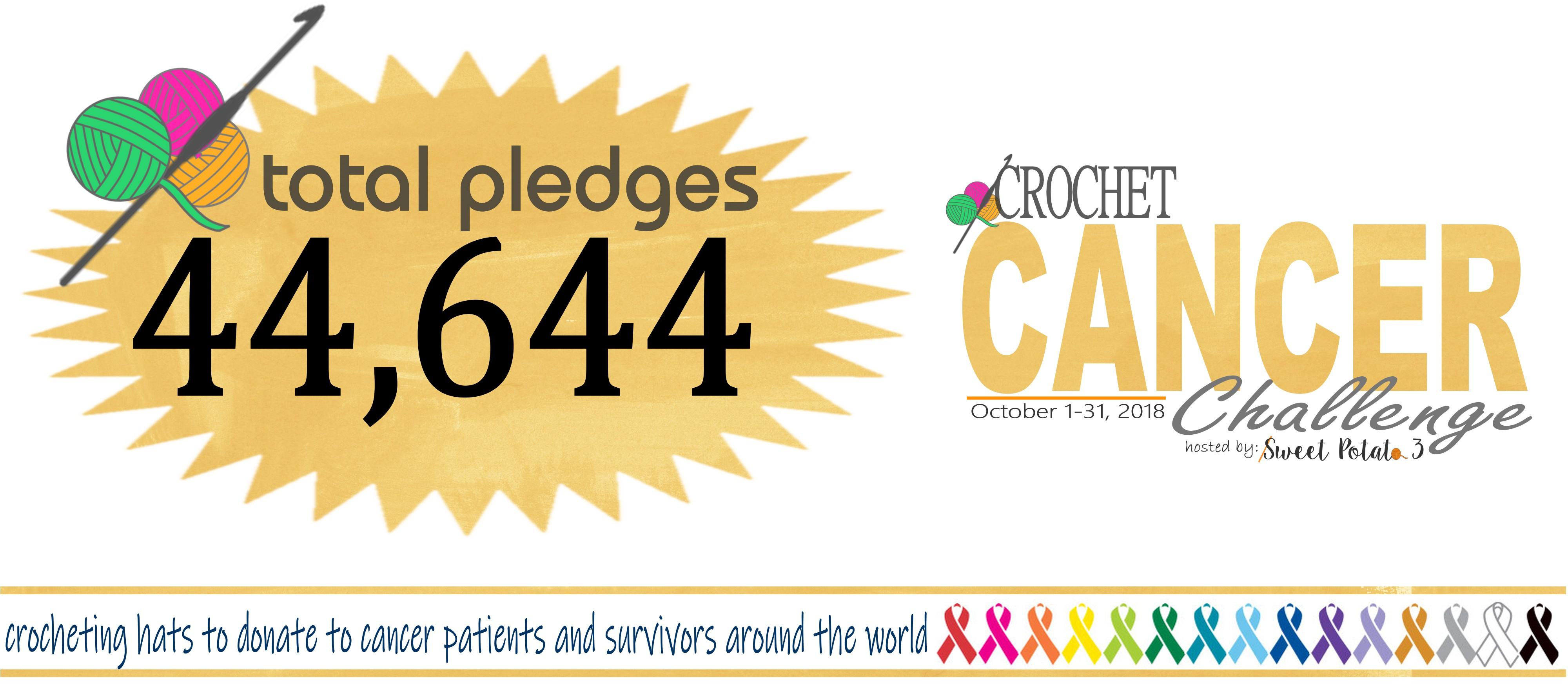 2018 Crochet Cancer Challenge Final Pledges