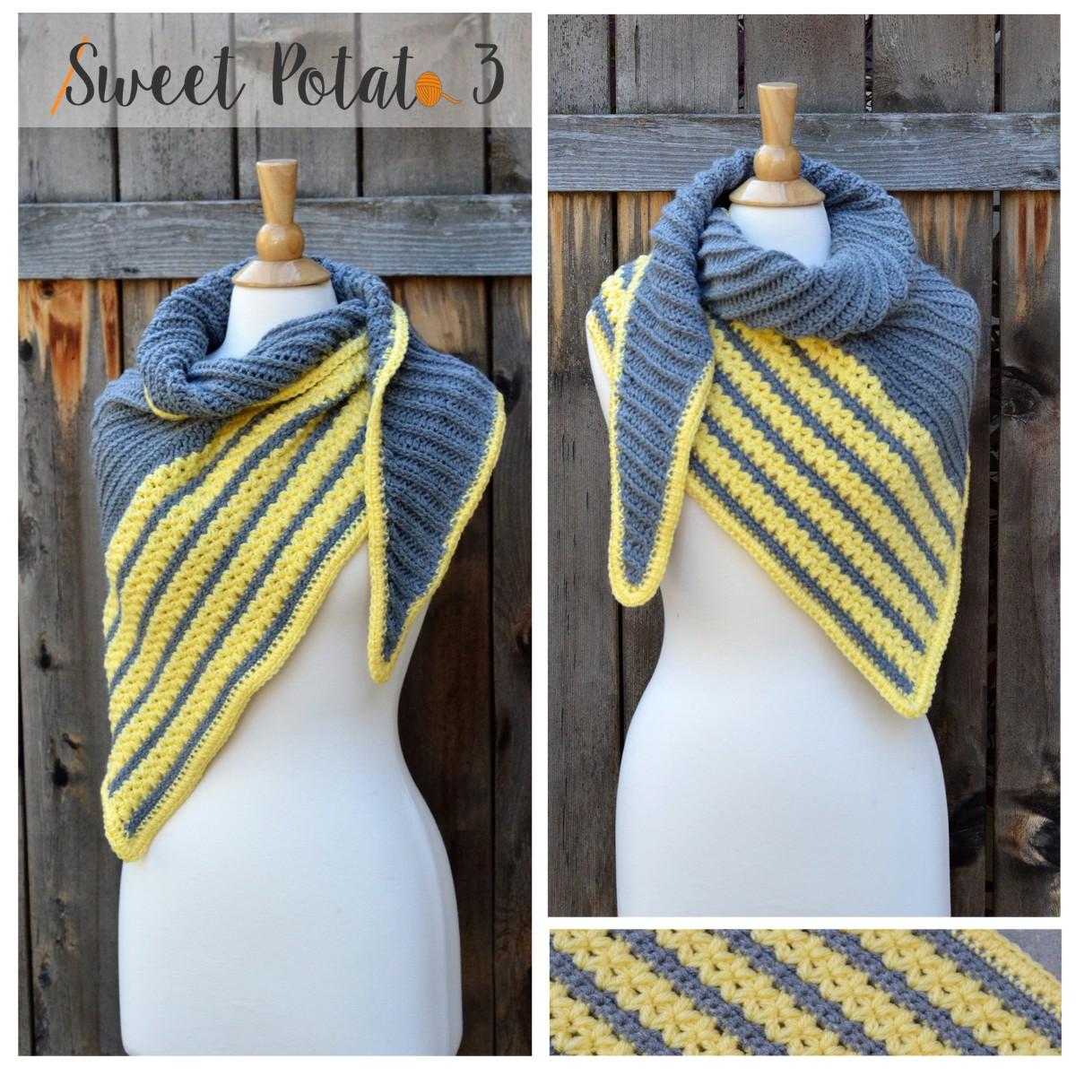 Cross My Heart Triangle Shawl Crochet Pattern