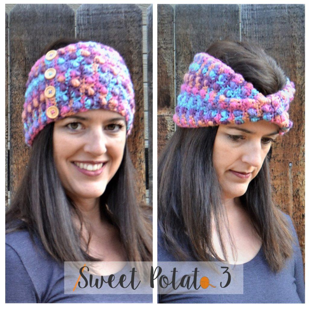 cozy twist ear warmer crochet pattern