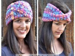 cozy twist ear warmer crochet pattern