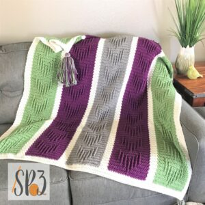 Chasing Arrows Blanket Crochet Pattern