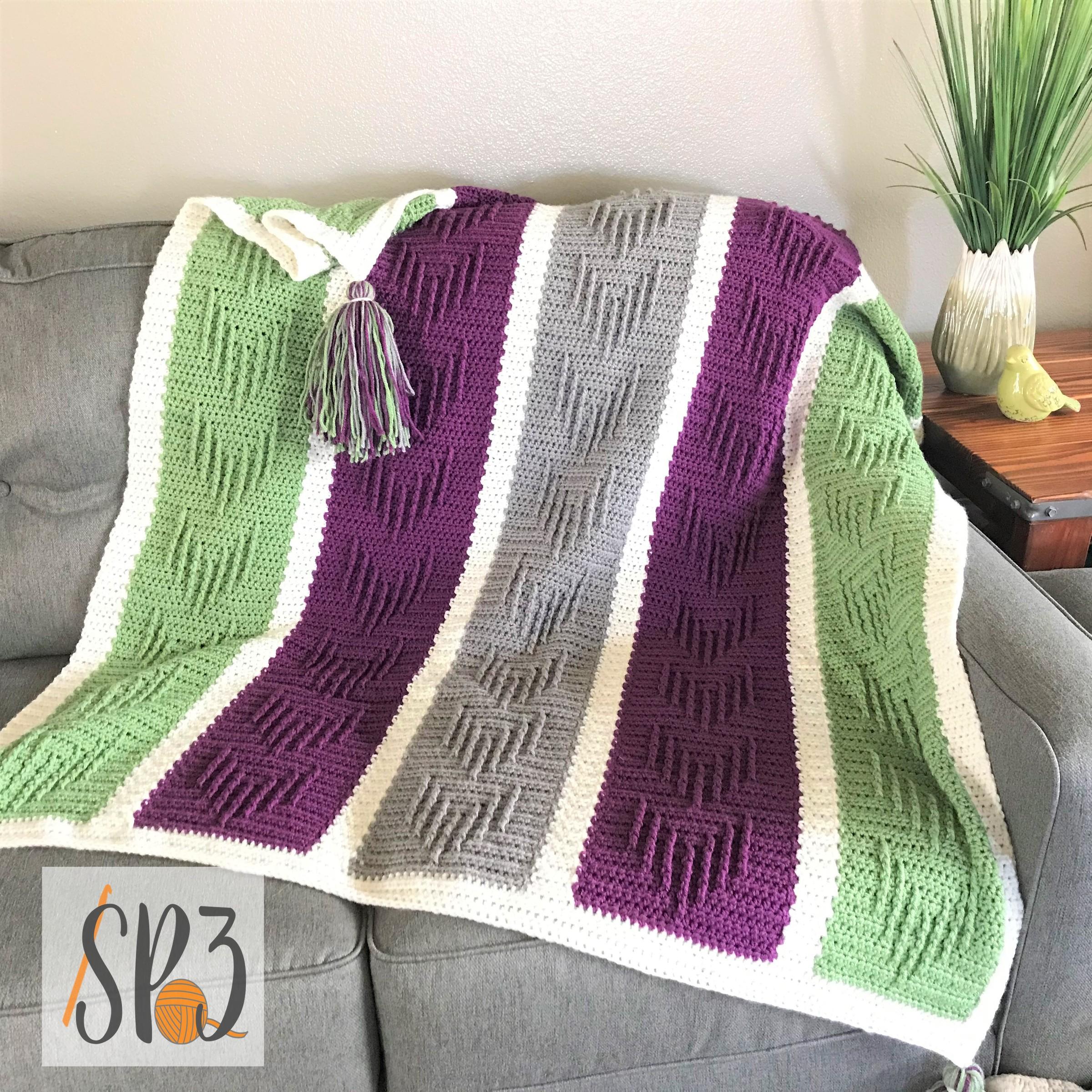 Chasing Arrows Blanket Crochet Pattern