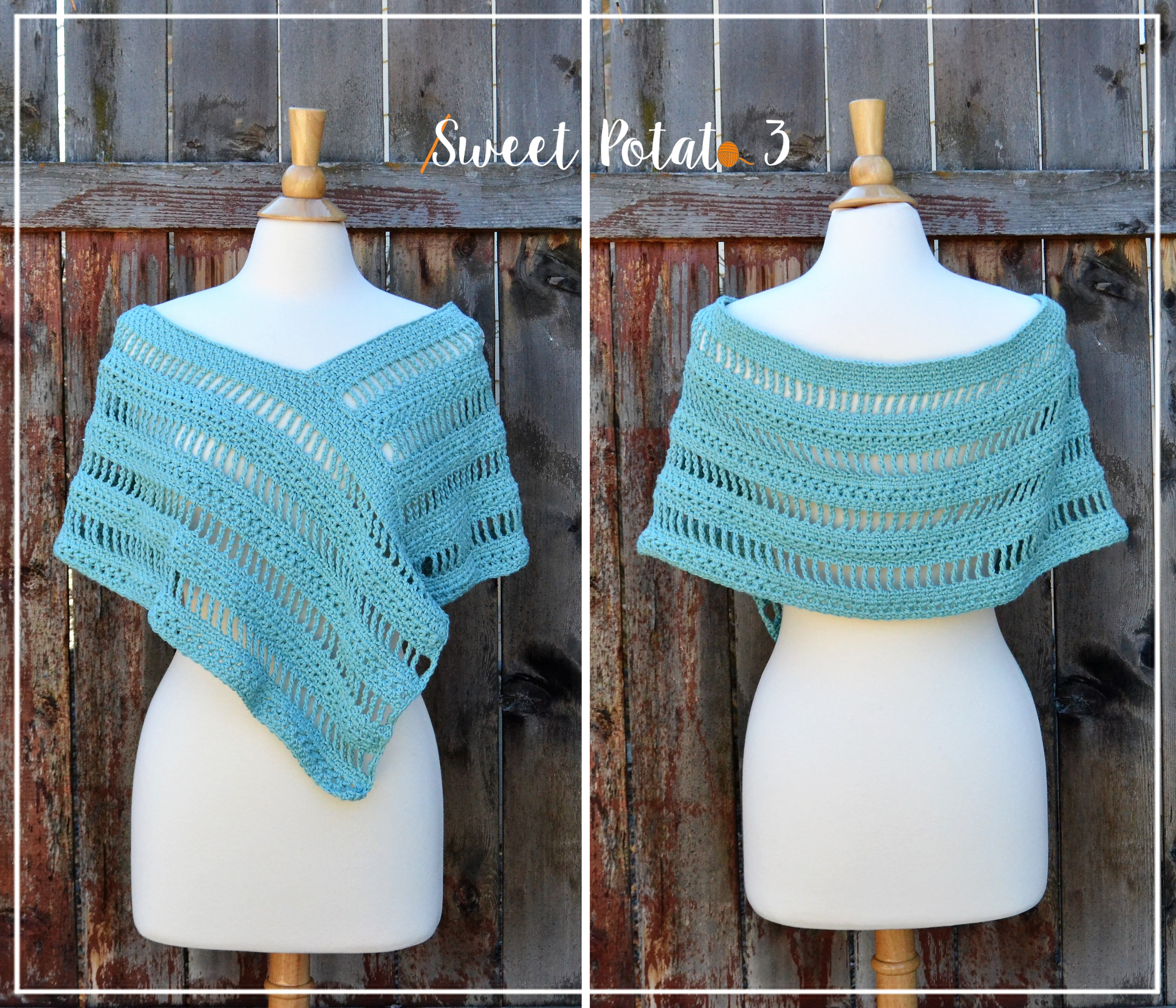 Whispering Willows Poncho – Crochet Pattern