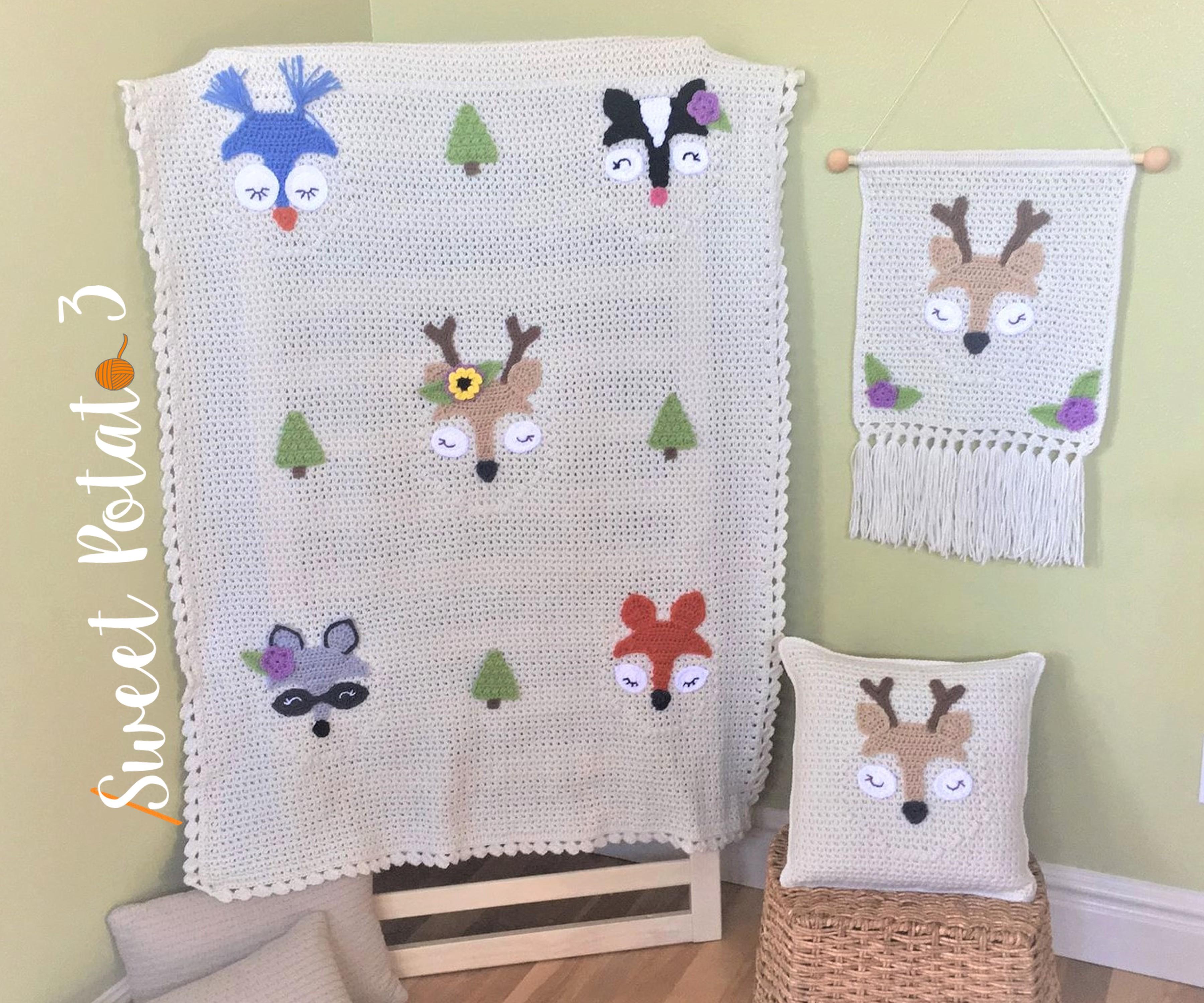 Forest Friends Crochet Pattern Set