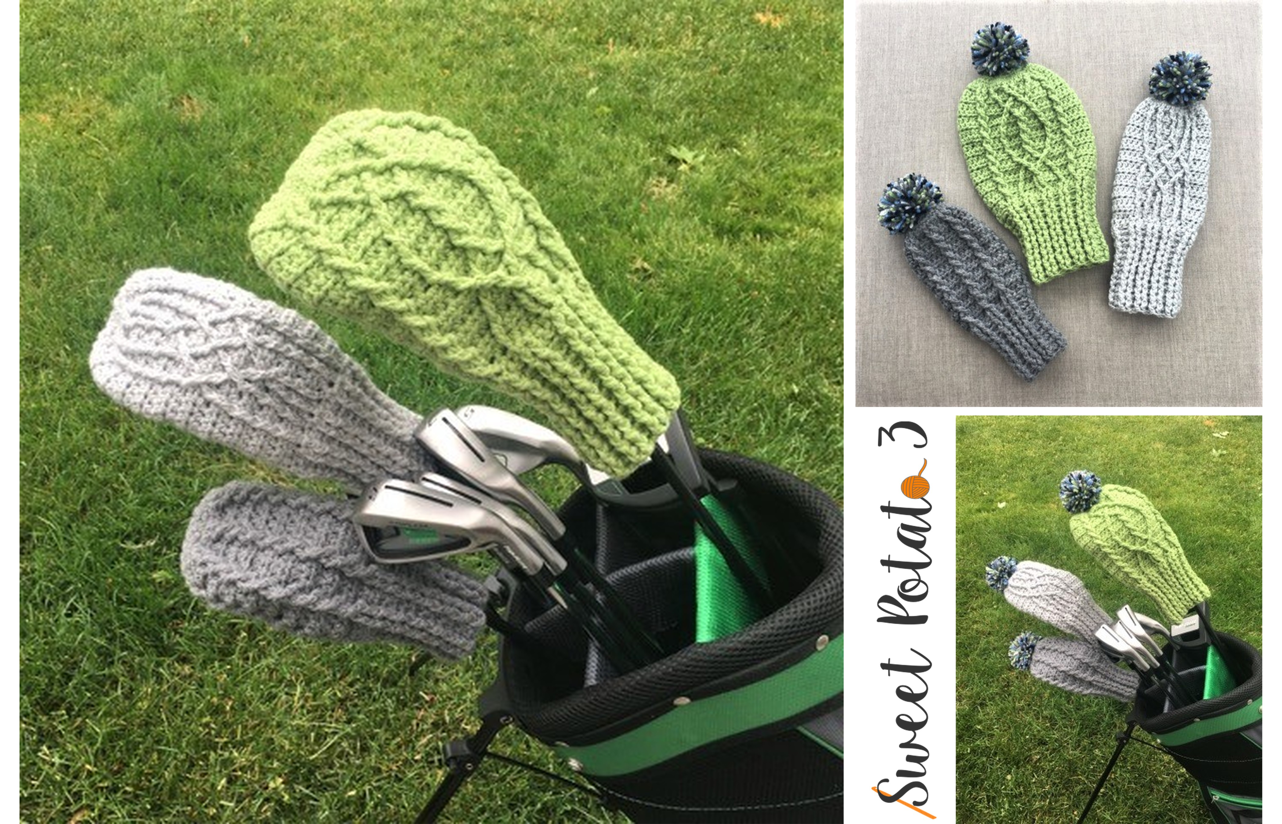 Cable Golf Club Cover – Crochet Pattern