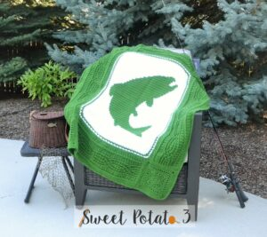 Fish On Blanket Crochet Pattern