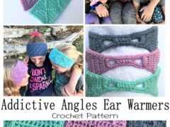 Addictive Angles Ear Warmer Crochet Pattern