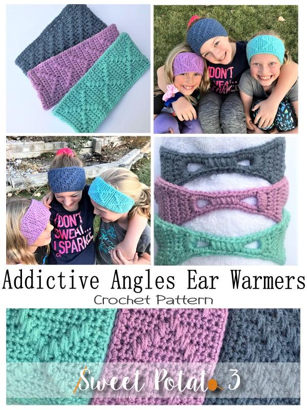 Addictive Angles Ear Warmers – Crochet Pattern