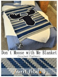 Read more about the article Don't Moose With Me Crochet Blanket Pattern