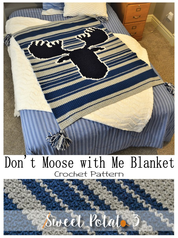Year in Review Don't Moose with Me Blanket Crochet Pattern