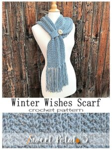 Winter Wishes Scarf – Crochet Pattern