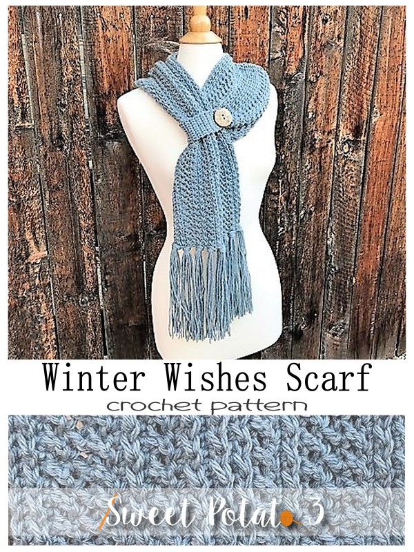 Winter Wishes Scarf – Crochet Pattern