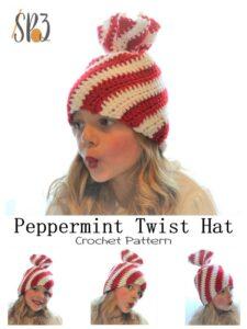 Peppermint Twist Christmas Hat Pattern