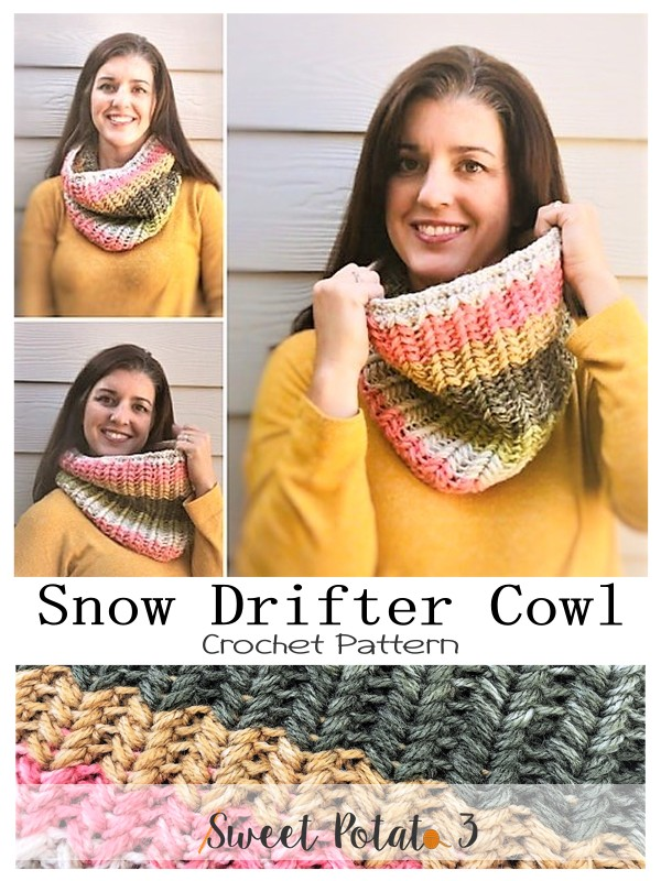 Year in Review Snow Drifter Cowl Pattern