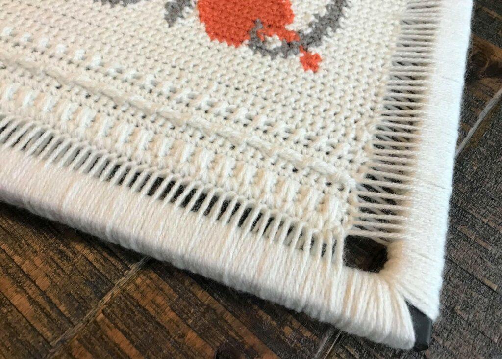 Frame Yarn Wrap for Display