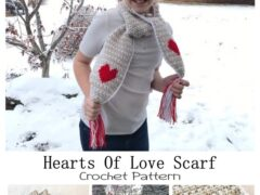 Hearts of Love Crochet Scarf Pattern