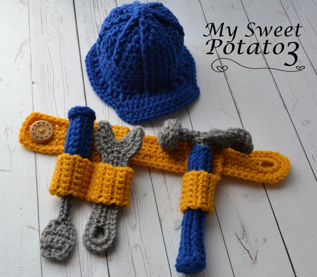 Tool Belt & Construction Hard Hat Crochet Pattern