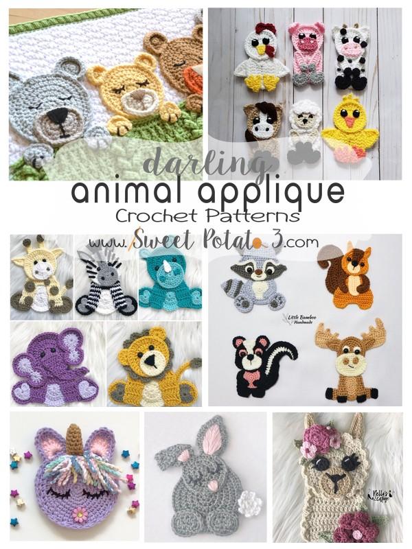 Darling Animal Applique Crochet Patterns