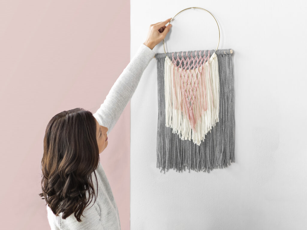 Cascading Fringe Wall Hanging Sample Photo