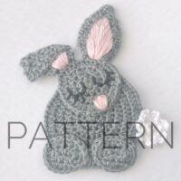 Crochet Sleepy Bunny Applique Pattern - by Bliss Bound Crochet
