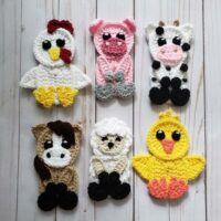 Farm Animals Applique Pack - by The Yarn Conspiracy