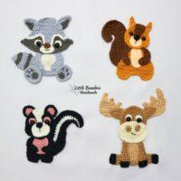 Woodland Animals Applique Set - Little Bamboo Handmade