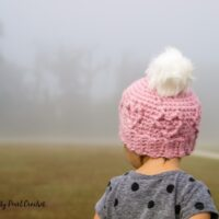 Toddler Chunky Cabled Heart Hat by Salty Pearl Crochet