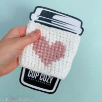 Here's my Heart Crochet Coffee Sleeve by Stitching Together