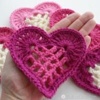 Lacy Little Heart Pattern by Felted Button