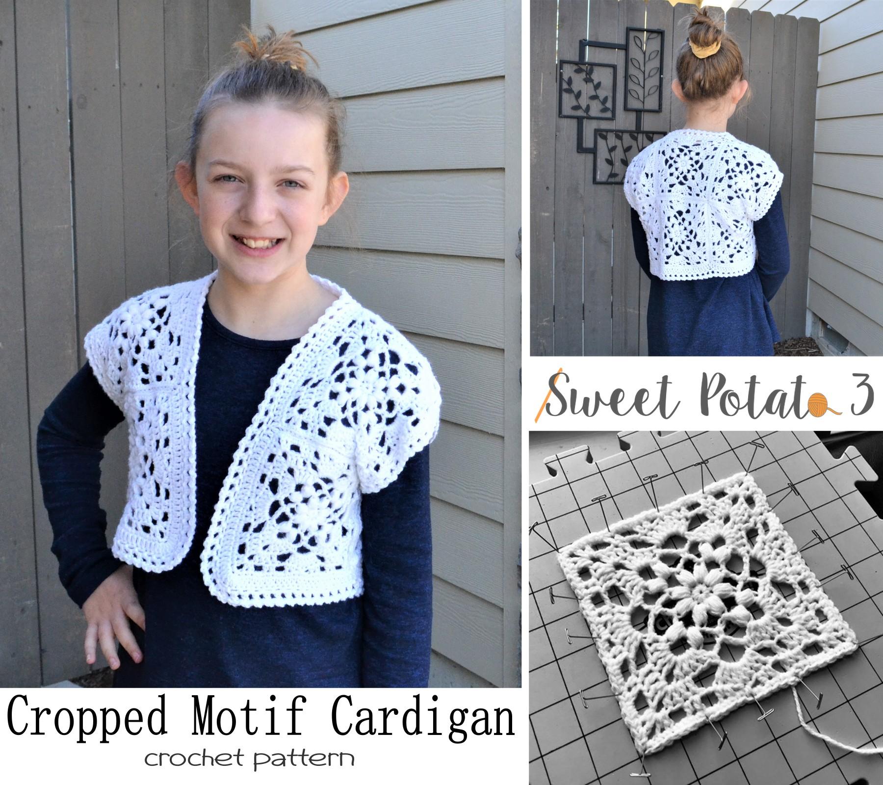 Cropped Motif Cardigan – Crochet Pattern
