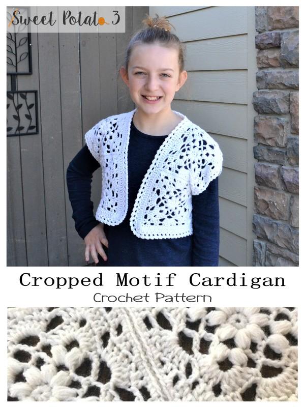 Cropped Motif Cardigan