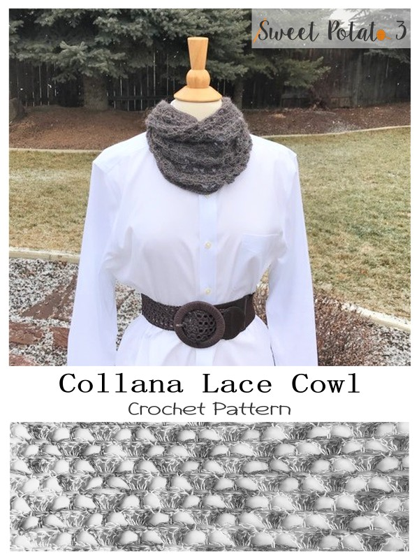 Collana Lace Cowl – Crochet Pattern