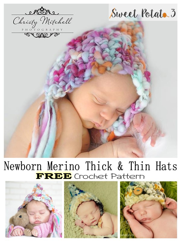 You are currently viewing FREE Merino Thick & Thin Newborn Hat Patterns