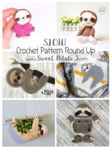 Sloth Crochet Pattern Round Up to Brighten Your Day