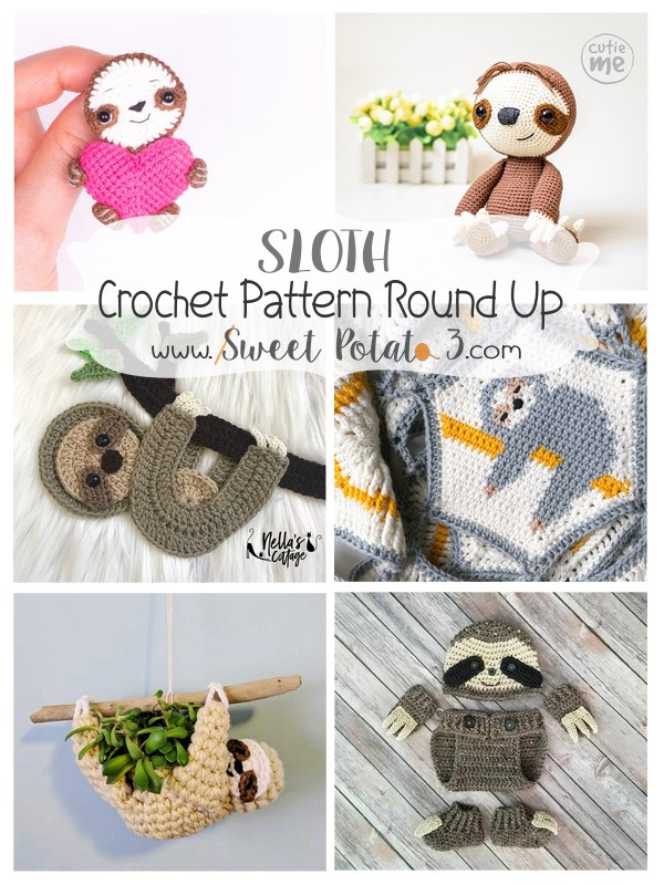Sloth Crochet Pattern Round Up