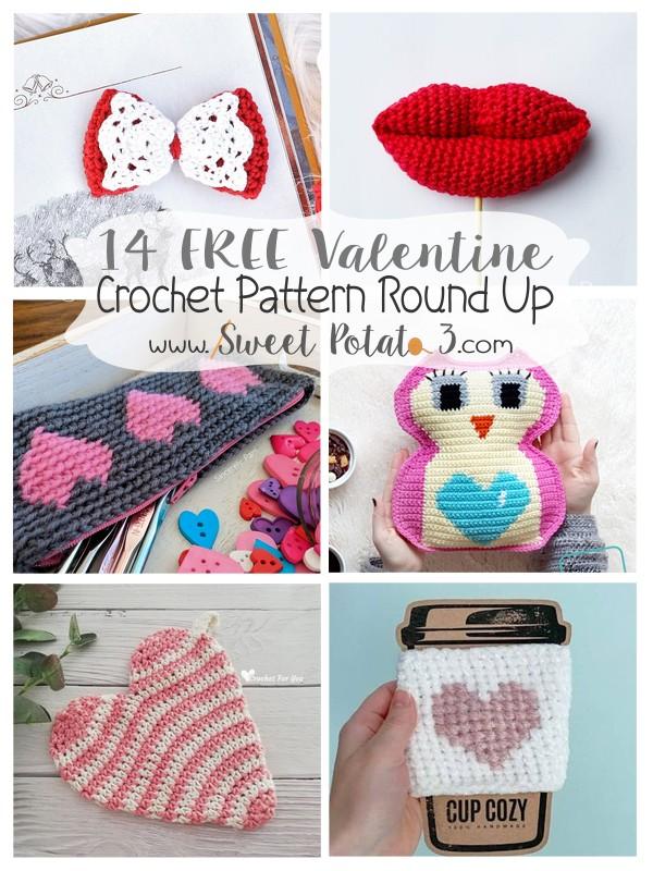 14 Free Valentine's Crochet Pattern Round Up